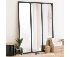 Miroir triptyque en métal noir 60x80