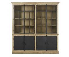 Double vitrine 4 portes grise et noire Voltaire