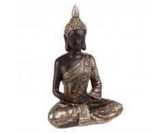 Statuette bouddha noire et dorée H20