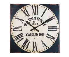 Horloge décorative en métal noir