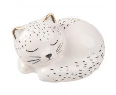 Statuette chaton en dolomite blanche L6