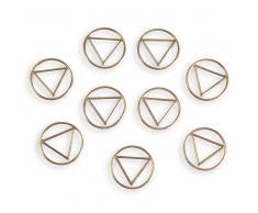 Trombones triangles dorés URBAN