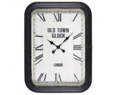 Horloge en métal noir vieilli ASHTON