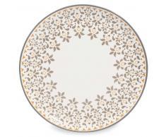 Assiette plate en faïence grise D 27 cm GYPSY