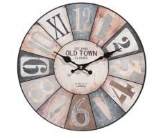 Horloge en bois D 34 cm COSY