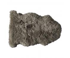 Tapis en peau de mouton beige 55 x 90 cm