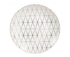 Assiette à dessert en porcelaine blanche D 20 cm OPALE