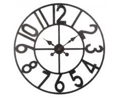 Horloge indus en métal noir D70