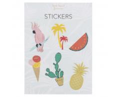 6 stickers motifs tropicaux