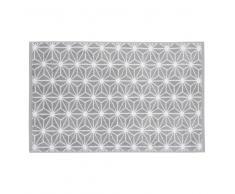 Tapis de bain en coton gris 50 x 80 cm NORDIC
