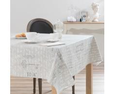 Nappe enduite en lin grise 140 x 180 cm MANUFACTURE ROYAL