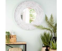Miroir en fibre de verre blanc 109x109