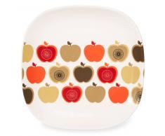 Assiette plate motif pommes en faïence D 24 cm THELMA