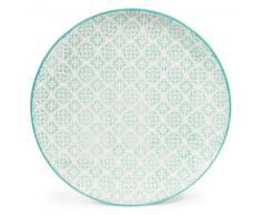 Assiette plate en faïence bleue D 27 cm COCOTTE