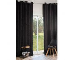 Rideau à œillets en velours noir 140x300