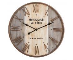 Horloge en sapin et métal
