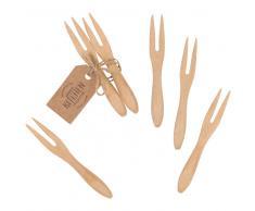 Mini fourchettes en bambou