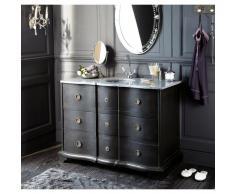 Meuble vasque de salle de bain noir Eugenie