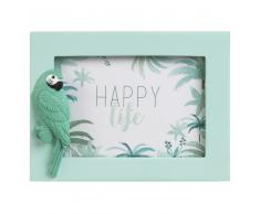 Cadre photo 10x15 perroquet vert menthe