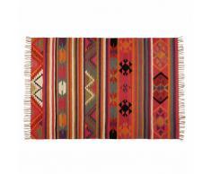 Tapis ethnique en laine multicolore 140x200