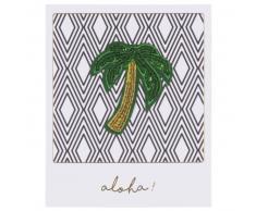 Carte graphique imprimé palmier