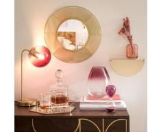 Miroir filaire doré