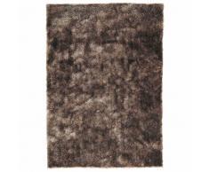 Tapis à poils longs en tissu beige 140 x 200 cm LUMIÈRE