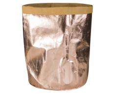Panier à linge en papier cuivré