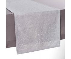 Chemin de table gris L 180 cm ANDROMÈDE