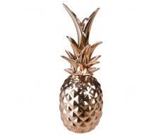 Statuette ananas en porcelaine cuivrée H21
