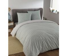 Parure de lit 240 x 260 cm en coton bleue KIMONO