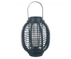 Lanterne en bambou bleu marine