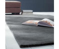 Tapis à poils courts en laine anthracite 250 x 350 cm SOFT