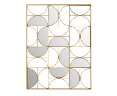 Déco murale miroir en métal doré 90x120