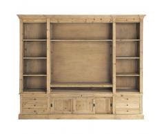 Bibliothèque meuble TV en bois massif recyclé L 264 cm Passy