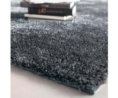 Tapis à poils longs en tissu gris 160 x 230 cm LUMIÈRE