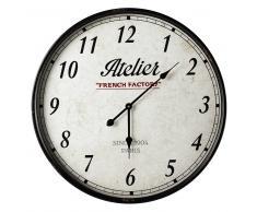 Horloge en métal noire D 67 cm FRENCH FACTORY
