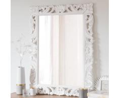 Miroir en manguier blanc 70x96