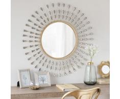 Miroir rond en métal D75