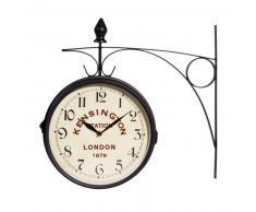 Horloge applique en métal noire KENSINGTON