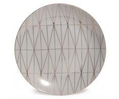 Assiette plate en porcelaine grise D 27 cm OPALE