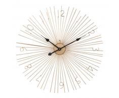 Horloge filaire dorée