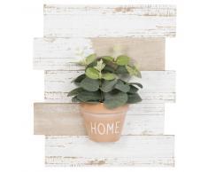 Tableau avec plante artificielle 26x30