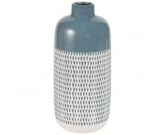 Vase en céramique bleue motifs gouttes H30