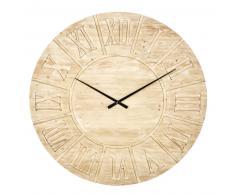 Horloge en sapin gravé D120