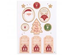 Stickers rouge imprimé Noël