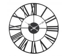 Horloge en métal noir D37