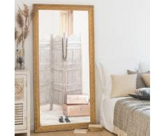 Miroir en paulownia doré 90x180