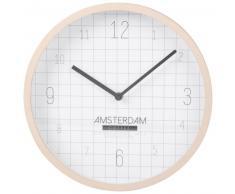 Horloge motifs à carreaux