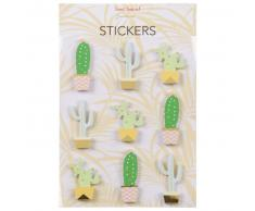 9 stickers adhésifs cactus